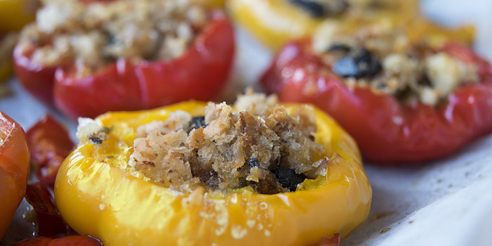 Yellow And Red Stuffed Peppers