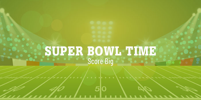 Super Bowl Type Over Illustration Of Football Field