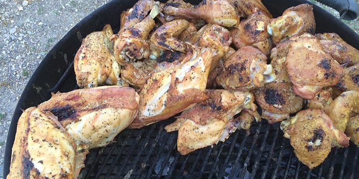 Lilly Den Farm Chicken Wings On Grill