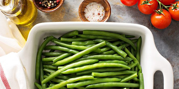 Green Beans And Roasted Red Onions