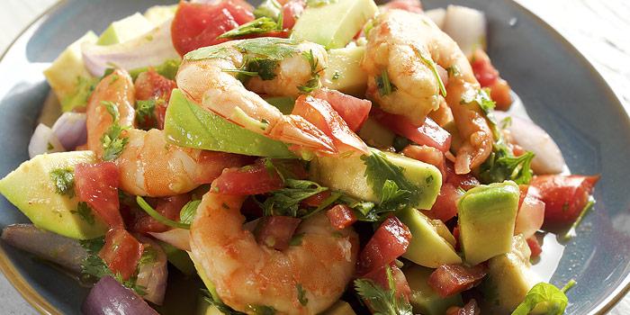 Shrimp, Avocado, & Tomatillo Salad
