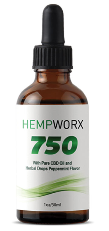 HempWorx CBD Oil bottle with dropper