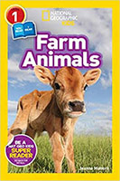 Farm Animals Cover - Calf in a field with type and National Geographic logo overlaying