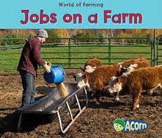 Jobs on a Farm Cover showing person feeding the cows