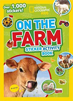 On the Farm Cover - Calf licking its nose with type and National Geographic logo overlaying