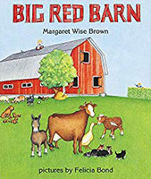 The Big Red Barn cover showing illustration of farm and animals