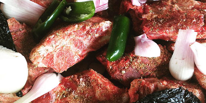 Pork With Seasoning And Vegetables
