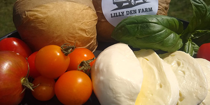 Photo Of Homemade Mozzarella Cheese With Basil And Tomatoes